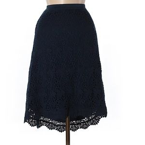 Dress Barn | Navy Blue Crochet Skirt